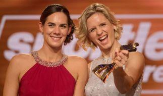 """Laura Ludwig (rechts) und Kira Wolkenhorst sind """"Mannschaft des Jahres"""" 2017. (Foto)"""