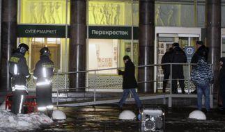 In St. Petersburg explodierte ein Sprengsatz mitten in einem Supermarkt. (Foto)