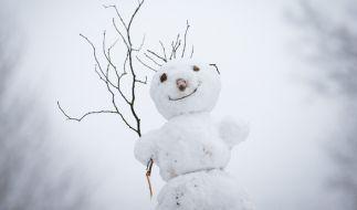 Zwei Schneemänner haben in Bayern die Straße unsicher gemacht. (Foto)