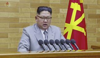 Kim Jong Un feiert sich und sein Land für die Fortschritte in Nordkoreas Atomprogramm. (Foto)