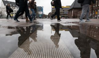 Feuchte Füße gab es zum Jahreswechsel beispielsweise in Oldenburg. (Foto)