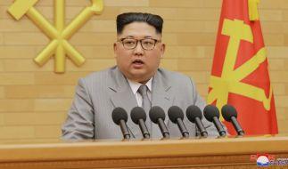 Bei einem Raketentest hat Kim Jong Un eine nordkoreanische Stadt abgeschossen. (Foto)
