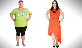 """Alexandra aus Wiesbaden - vor und nach der Sat.1-Show """"The Biggest Loser"""". Sie trat mit einem Startgewicht von 103,4 Kilo an und wog am Ende nur noch 50,2 Kilo. (Foto)"""