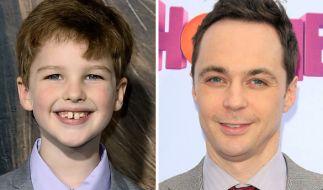 Der junge und der erwachsene Sheldon Cooper: Iain Armitage (li.) und Jim Parsons. (Foto)