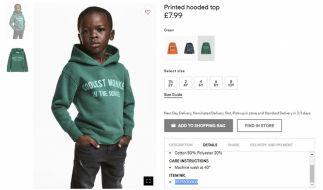 Stein des Anstoßes: H&M ging wohl mit dieser Werbung einen Schritt zu weit. (Foto)