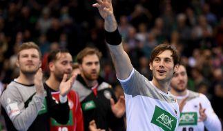 Der deutsche Handballer Uwe Gensheimer: Deutschland startete mit klarem Sieg gegen Montenegro in die EM. (Foto)