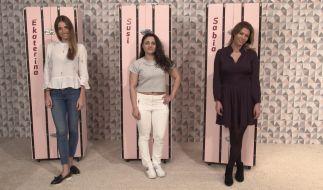 "Ekaterina Leonova, Susi Kentikian und Sabia Boulahrouz (von links) treten um den Titel ""Promi Shopping Queen"" am 14. Januar 2018 bei Vox an. (Foto)"