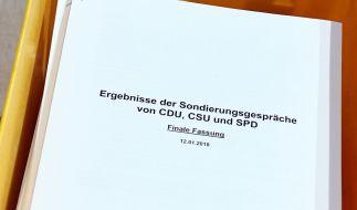 Obwohl die Ergebnisse der Sondierungsgespräche zwischen Union und SPD vorliegen, streiten sich die GroKo-Partner noch über Details. (Foto)