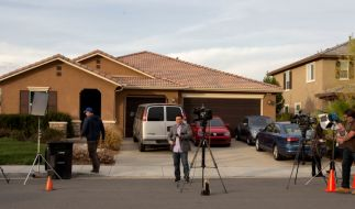 In diesem Wohnhaus in Perris/Kalifornien hielt ein Ehepaar seine 13 Kinder an Betten gefesselt gefangen. (Foto)