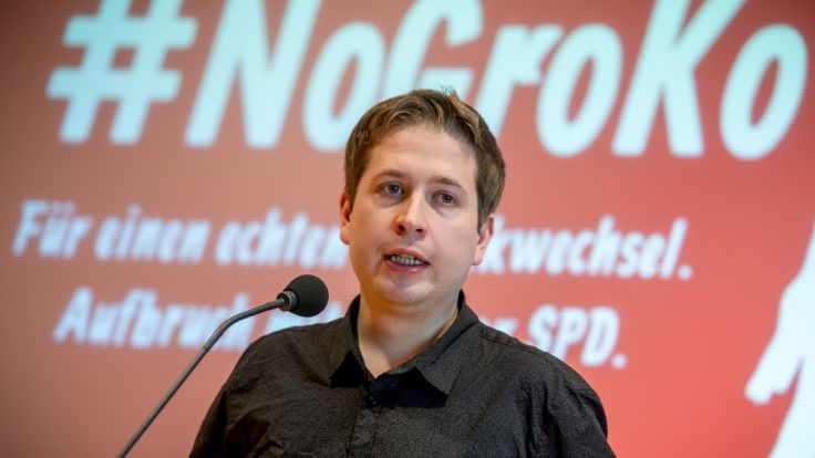 Der Juso-Bundesvorsitzende Kevin Kühnert führt die SPD-internen Gegner der GroKo an.