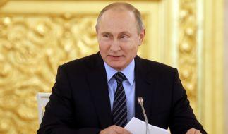 Wladimir Putin hat auch bei eisigen Temperaturen gut lachen. (Foto)