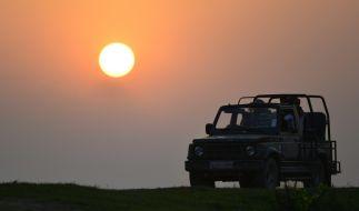 Ein deutscher Millionär und sein Sohn sind in Namibia tödlich verunglückt. Das Foto zeigt einen offenen Geländewagen. Mit einem ähnlichen Auto verunglückte die Familie. (Foto)
