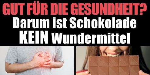 Schokolade gut für Gesundheit?