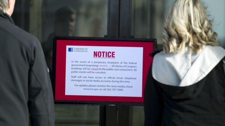 Die Kongressbibliothek (Library of Congress) in Washingto bleibt am Montag geschlossen. Begleitet von harschen gegenseitigen Vorwürfen gehen in Washington die Verhandlungen der Parteien über ein Ende des