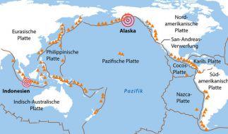 Ein schweres Erdbeben vor Alaska könnte einen Tsunami ausgelöst haben. (Foto)