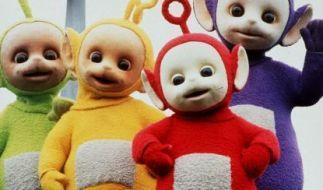 Die menschengroßen Puppen Tinky Winky, Dipsy, Laa Laa und Po. (Foto)