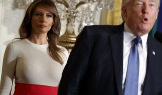Melania und Donald Trump sollen durch eine schwere Ehe-Krise gehen. (Foto)