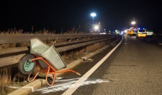 Ein Fahrer hatte sie zwischen den Ausfahrten Ingelheim West und Bingen Ost verloren und wollte sie selbst von der Fahrbahn räumen. (Foto)