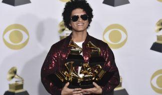 Bruno Mars räumte insgesamt sechs Grammys ab. (Foto)