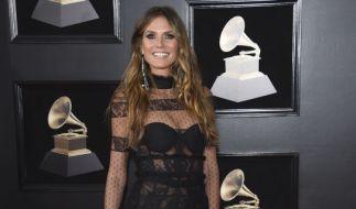 Heidi Klum zog bei den Grammys viele Blicke auf sich. (Foto)