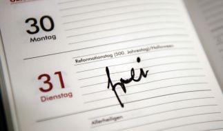 Frei! Die norddeutschen Bundesländer können sich demnächst besonders auf den Reformationstag freuen. (Foto)