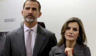 König Felipe mit seiner Ehefrau Königin Letizia von Spanien. (Foto)