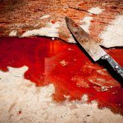 Messer-Mord vor den Augen der Kinder (Foto)