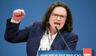 Andrea Nahles muss nun die SPD wieder in die Spur bringen. (Foto)