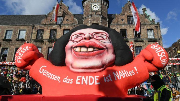 Auch bei den Rosenmontagsumzügen bekam die SPD ihr Fett weg. (Foto)