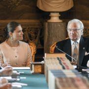 Zukunft und Gegenwart der schwedischen Monarchie: Kronprinzessin Victoria von Schweden und König Carl XVI. Gustaf von Schweden.