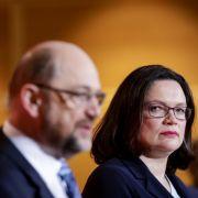 Martin Schulz und Andrea Nahles.