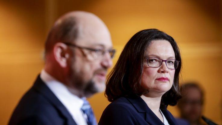 Martin Schulz und Andrea Nahles. (Foto)