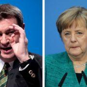 Beim politischen Aschermittwoch attackiert Markus Söder Bundeskanzlerin Merkel.