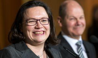 Olaf Scholz und Andrea Nahles sollen die SPD wieder auf Kurs bringen. (Foto)