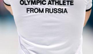 """Russische Sportler starten bei den Olympischen Winterspielen 2018 in Pyeongchang unter der Bezeichnung """"Olympische Athleten aus Russland"""", kurz OAR. (Foto)"""