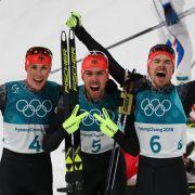 3x Gold! Deutsche Kombinierer auch im Team unschlagbare Olympiasieger (Foto)