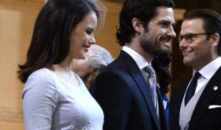 Prinzessin Sofia von Schweden, hier mit ihrem Ehemann Prinz Carl Philip von Schweden, ist bereits zweifache Mutter. (Foto)