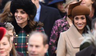 Kate Middleton und ihre künftige Schwägerin Meghan Markle greifen gern in die Trickkiste, um stets strahlend schön auszusehen. (Foto)