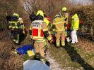 Ein Hund hat seinem Frauchen das Leben gerettet, nachdem die 44-Jährige bei eisigen Temperaturen in einen Fluss in Paderborn gefallen war. (Foto)