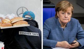Nach dem Ausländerstopp bei der Essener Tafel ist die Kritik an Angela Merkel enorm. (Foto)