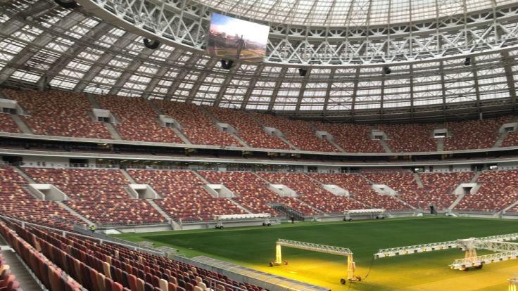 Im Moskauer Luschniki-Stadion wird bei der WM 2018 das Finale ausgetragen.