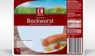 Die Supermarktkette Kaufland hat Bockwürste der Sorte K-Classic Delikatess Bockwurst zurückgerufen. (Foto)