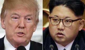 Donald Trump trifft sich mit Kim Jong-un. (Foto)