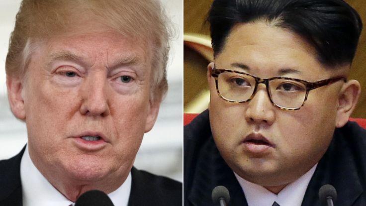 Donald Trump trifft sich mit Kim Jong-un.