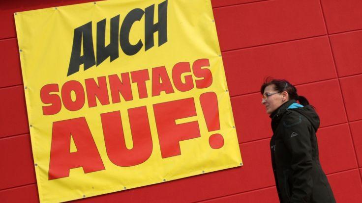 Auch am Sonntag, dem 11.03.2018, locken zahlreiche Geschäfte in Deutschland mit Sonntagsöffnungen (Symbolfoto).