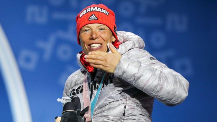 Andrea Eskau holte Silber im Langlauf-Sprint.