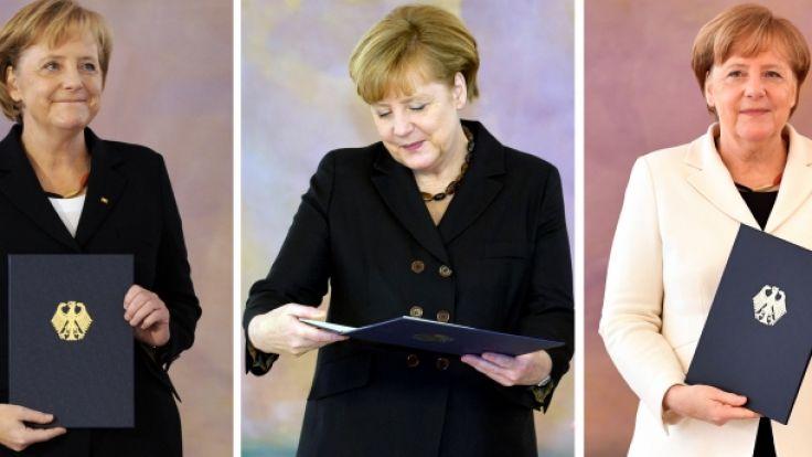 Angela Merkel hat zum vierten Mal nach 2005, 2009 und 2013 ihre Ernennungsurkunde als Bundeskanzlerin in Empfang genommen.