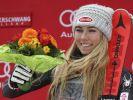Gesamtweltcupsiegerin Mikaela Shiffrin hat im letzten Slalom der Saison ihren 43. Weltcup-Sieg geholt. (Foto)