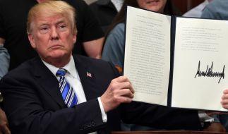 Donald Trump will die Strafzölle auf hunderte chinesische Produkte ausweiten. (Foto)