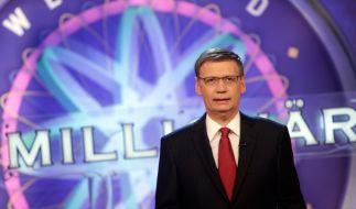 """Günther Jauch begrüßt auch an diesem Monat Quizkandidaten bei """"Wer wird Millionär?"""". (Foto)"""
